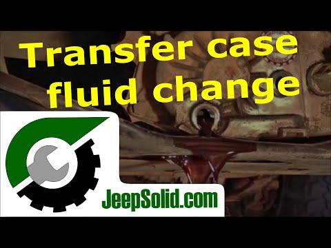 Transfer case fluid change Jeep YJ