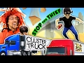 TRY 2 STOP ME HIGH SPEED TRUCK JUMPING PARKOUR CHASE FGTEEV CLUSTER TRUCK Funny Gameplay Skit