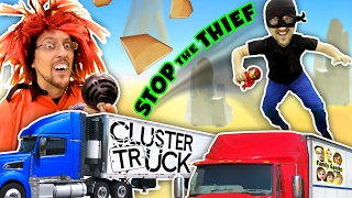 TRY 2 STOP ME! HIGH SPEED TRUCK JUMPING PARKOUR CHASE (FGTEEV CLUSTER TRUCK Funny Gameplay Skit)