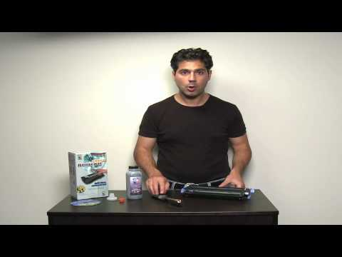 Toner Refills for HP 2600 / 1600 / 2605 toner refills - how to use a toner refill kit