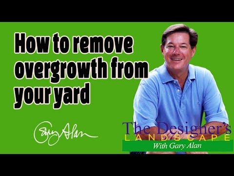 How to Remove Overgrowth from a yard Designers Landscape#614