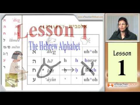 Learn Biblical Hebrew - lesson 1 - Hebrew AlefBet | by eTeacherBiblical.com