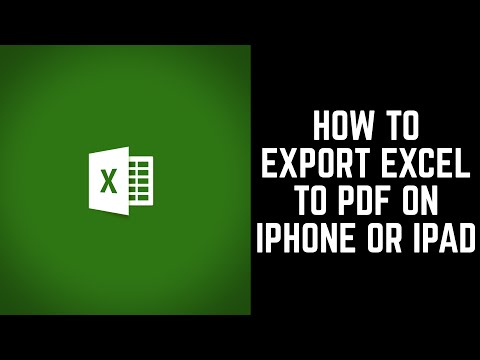 How to Export Microsoft Excel to PDF in Apple iPhone or iPad App