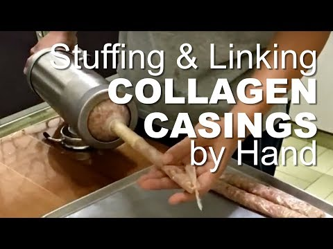 How to stuff and link collagen casings sausages at home (DWTD)