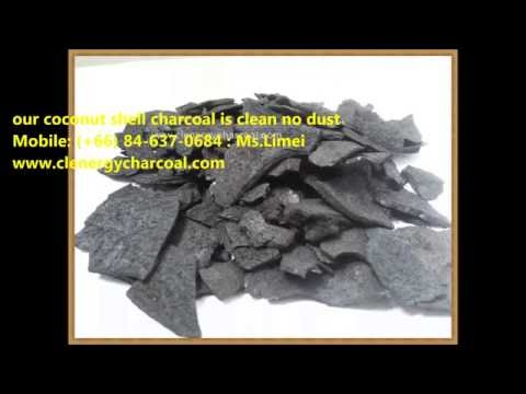 Coconut shell charcoal Factory and exporter from Thailand Coconut Shell Carbonization