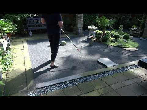 Zen garden raking