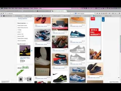 How to follow shoes on your eBay feed and get alerts for new listings.