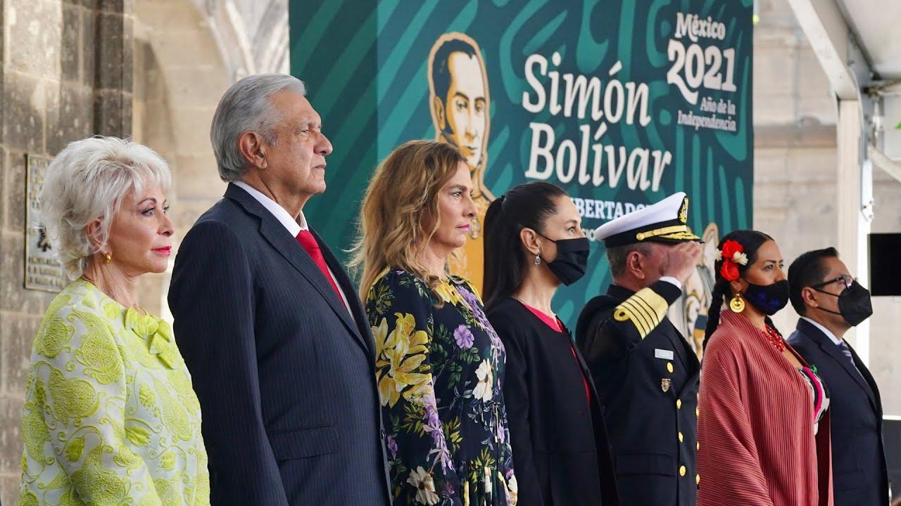 238 Aniversario del Natalicio de Simón Bolívar, desde el Castillo de Chapultepec
