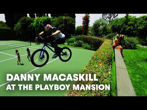 Danny MacAskill at the Playboy Mansion