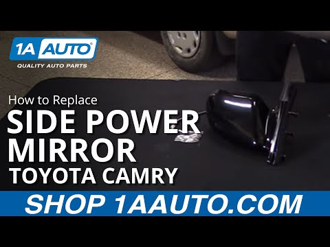 How to Replace Install Side Power Mirror 97-01 Toyota Camry