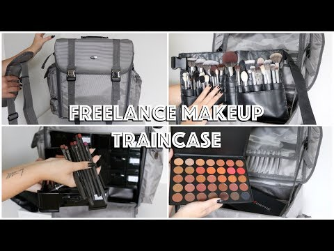 MY FREELANCE MAKEUP KIT | Train Case Essentials & Tips!