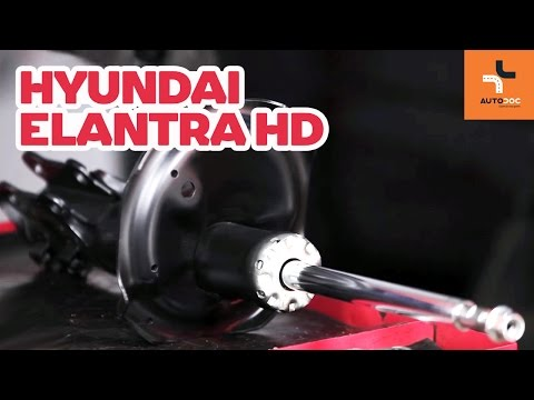 How to replace front shock absorbers on HYUNDAI ELANTRA HD TUTORIAL | AUTODOC