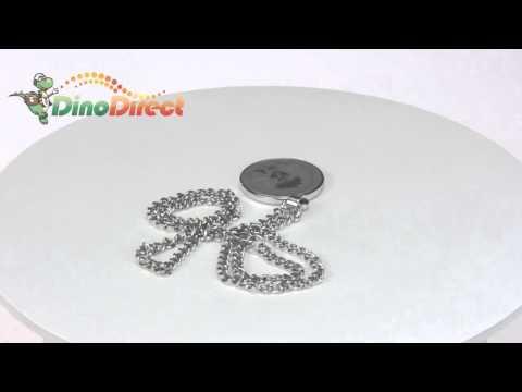 Bleach Ichigo Pattern Stainless Steel Round Pendant Necklace  from Dinodirect.com