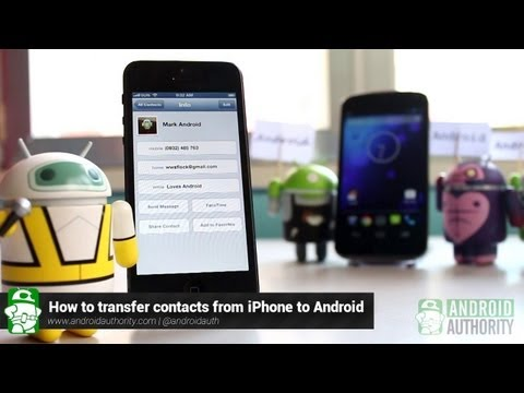 How to transfer contacts from iPhone to Android!