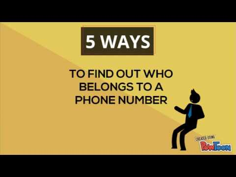 5 Ways to find out who belongs to an unknown number