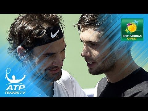 Roger Federer wins EPIC point against Borna Coric in semi-final | Indian Wells 2018