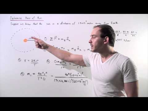 Calculation of Mass of the Sun