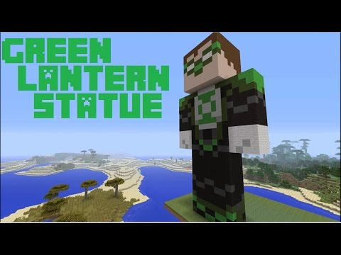 Minecraft: Let's Build - Green Lantern (Statue)