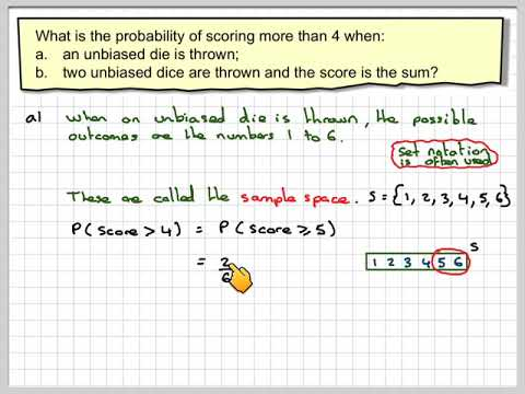 Using possibility space diagrams to calculate probabilities