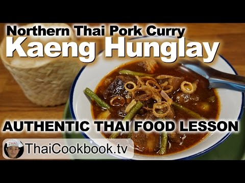 Authentic Northern Thai Recipe for Kaeng Hunglay Pork Curry