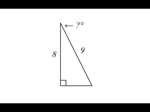 Use Inverse Cosine to Determine an Angle in a Right Triangle