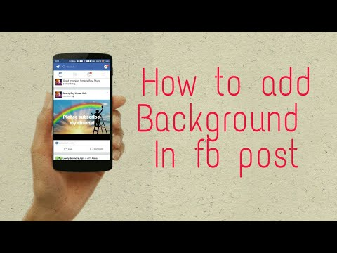 How to add background in fb post/Status.