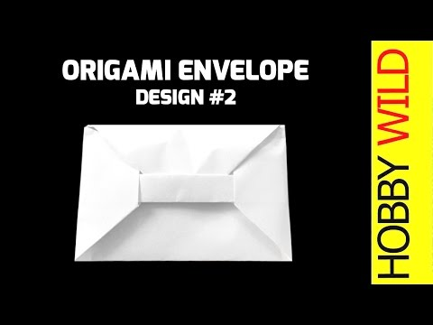 How To Make A Paper Envelope (Origami) - A4 Paper - Design #2
