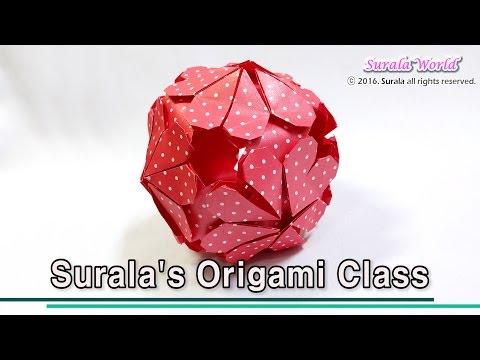 Origami - Flower Ball (Kusudama, ornament)