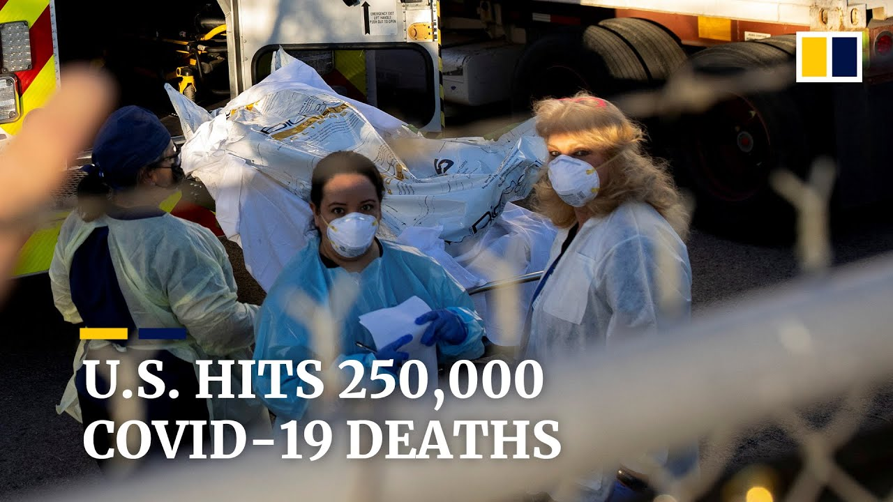 US coronavirus death toll hits record 250,000 after highest daily fatalities in months