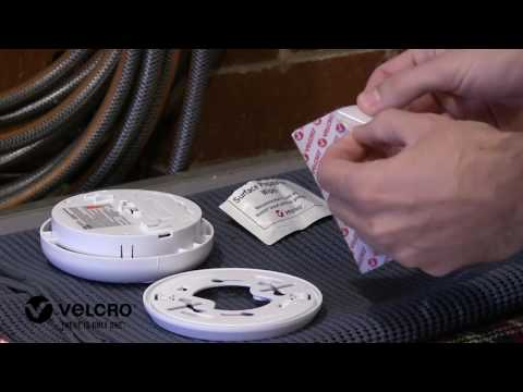 How to attach a smoke alarm to the ceiling with VELCRO® Brand.