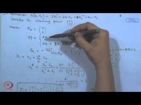 Mod-01 Lec-31 Unconstarined optimization techniques : Indirect search method