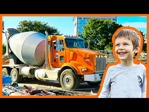 Cement Truck and Tower Crane Adventure