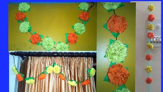 How To Make Toran With Paper Videos 9tube Tv