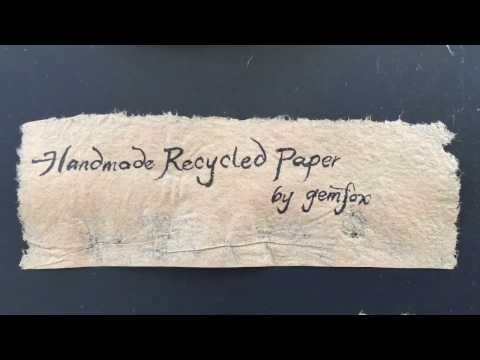 Paper Making Handmade Recycled Kraft Paper from Corrugated Cardboard Packaging Shipping Boxes