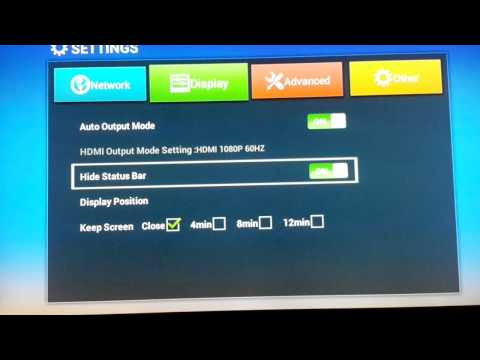 How to change Screen Size on Android TV Box