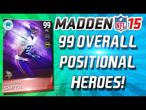 Madden 15 Ultimate Team - 99 OVERALL POSITIONAL HEROES! HARRISON AND SITTON! - MUT 15