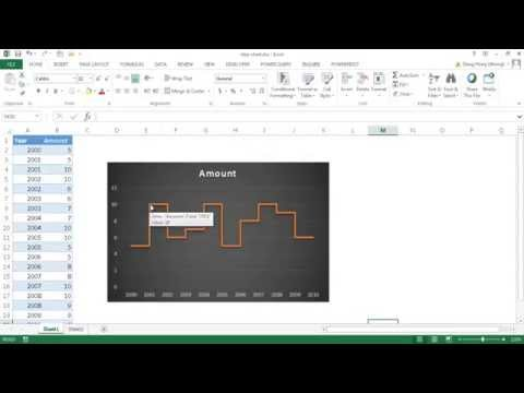 Create a Step Chart in Excel