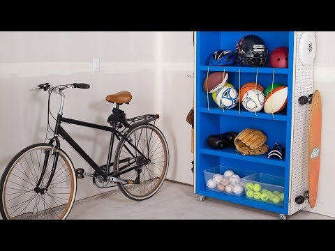 Build a DIY Sporting Goods Catch-All to Keep Your Garage Organized