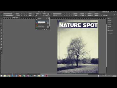 Creating a Magazine Cover in InDesign