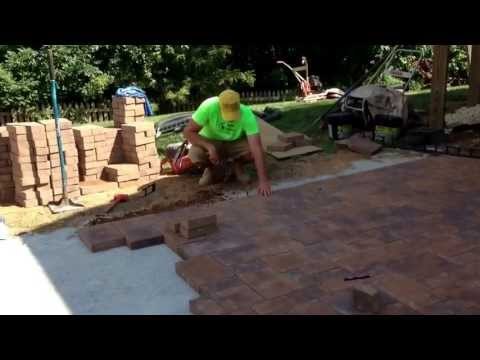 Installing Snap Edge on another paver patio installation: Ryan's Landscaping
