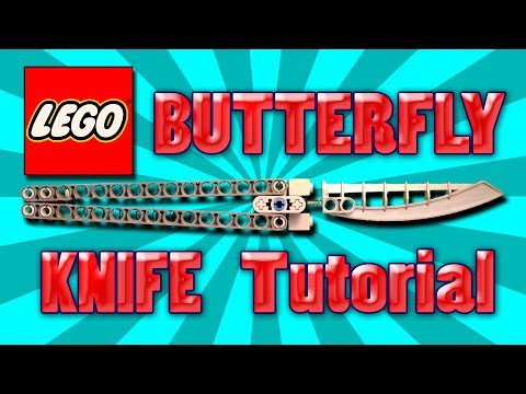 How to make LEGO BUTTERFLY KNIFE/BALISONG