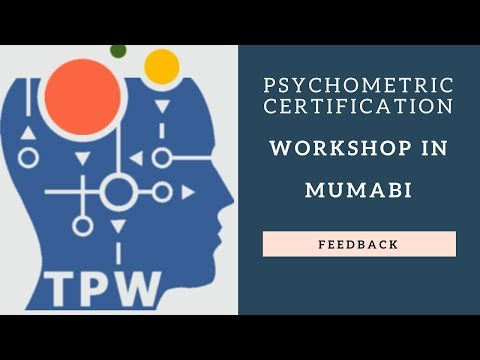 Participant Feedback on Psychometric Certification Workshop in Mumbai