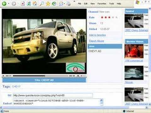 Car Advertising Video Site