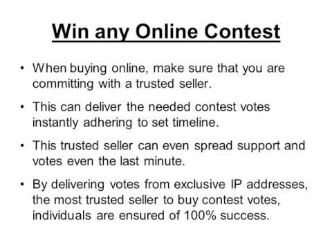 Buy Contest Votes and Win Any Contest Online
