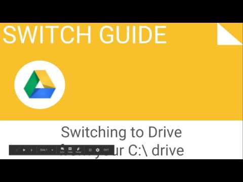 Switching to Google Drive from your C:\ drive