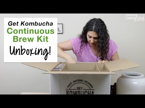 Unboxing The Get Kombucha Continuous Brewer Kit!