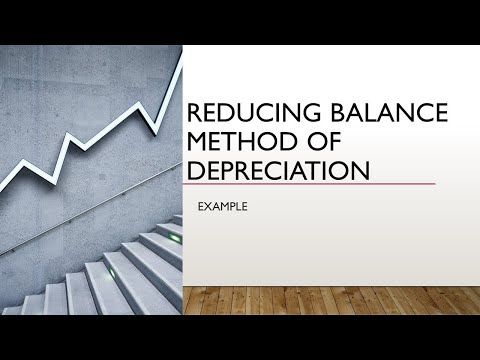 Reducing Balance Method (RBM) / Written down value method(WDV)