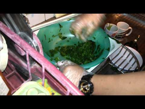 how to make a green grass jelly drink