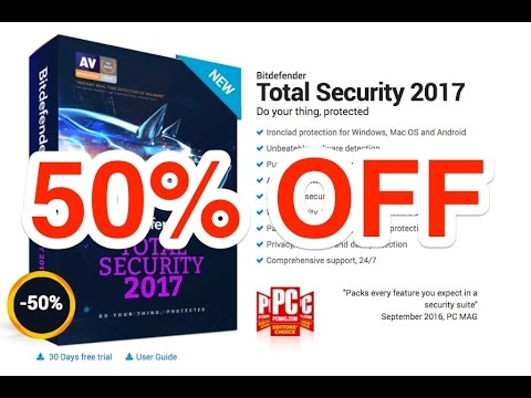 Bitdefender Total Security 2017   50% Discount Coupon Codes