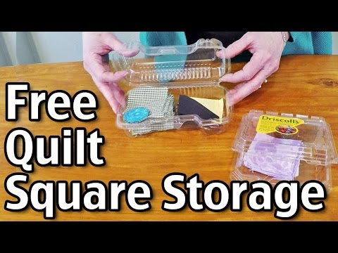 Free Quilt Square Storage